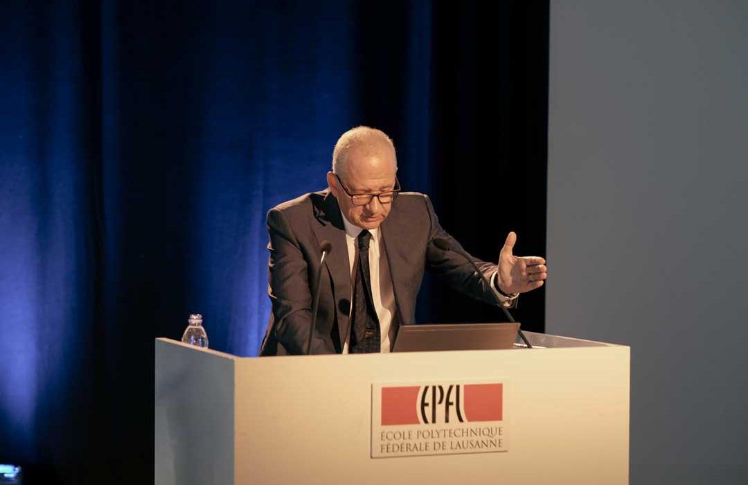 Etienne Jornod, président de la NZZ, a raconté le virage numérique du groupe alémanique. Copyright Le Réseau